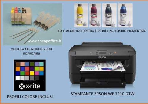 Epson WF 7110 DTW A3+ Printer with ciss 27XL
