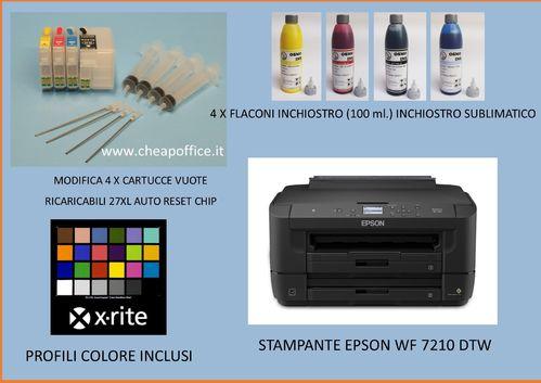 Epson WF 7210 DTW Printer with ciss + COLOR PROFILE