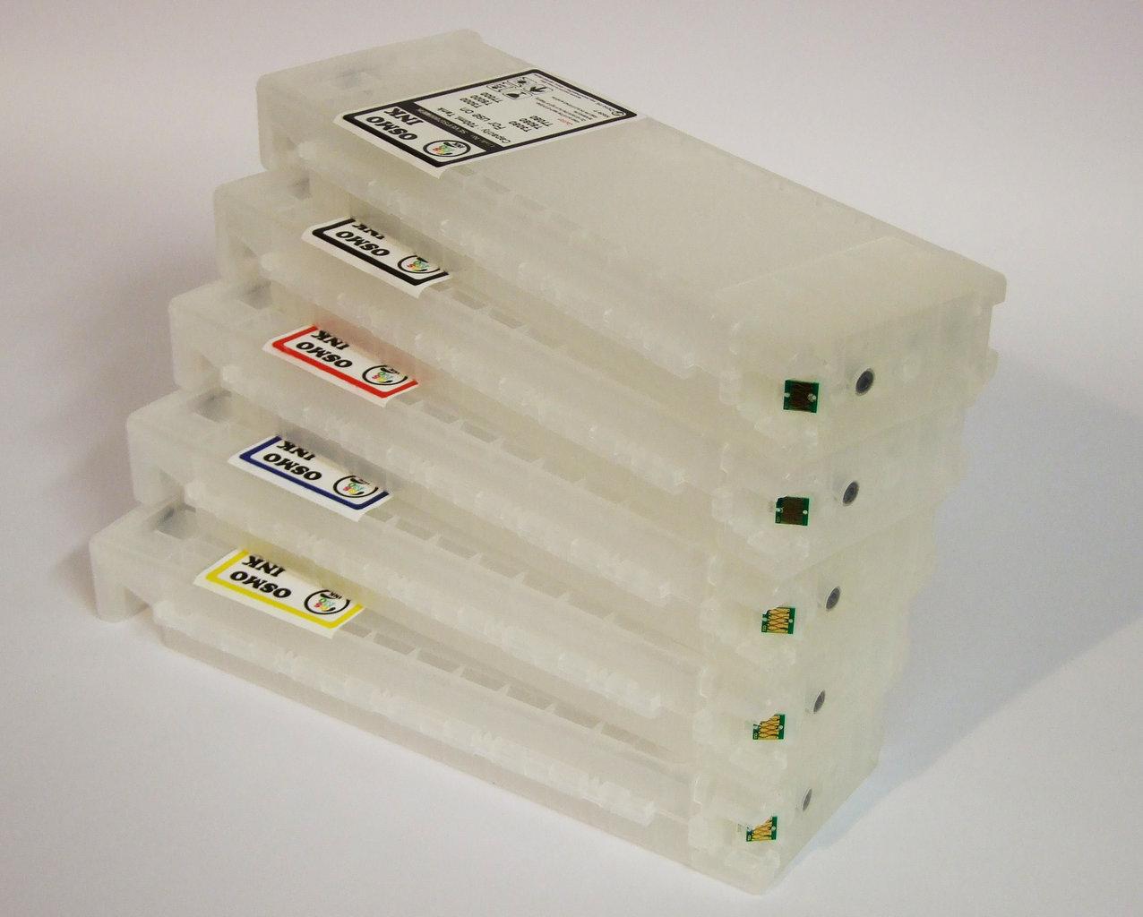 EMPTY TRANSPARENT CARTRIDGE with inkbag 700ml EPSON F2000, F2100